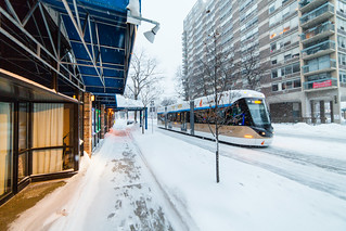 Streetcar Charging through the Snow | by VBuckley.com