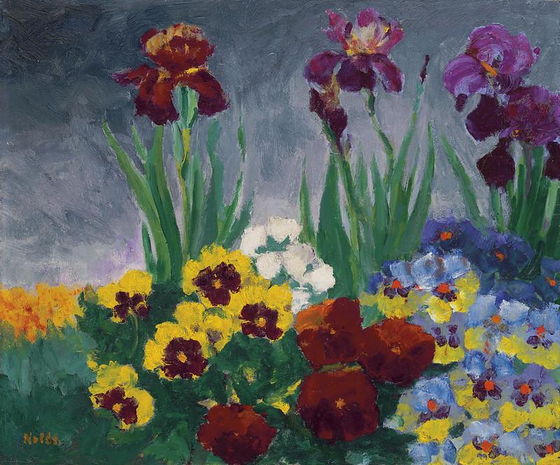 Van-Go Paint-By-Number Kit Irises and Pansies by Emil Nolde