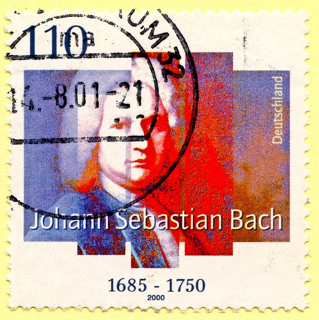 *birthday* great stamp Germany 110 pf Johann Sebastian Bach (21st March 1685 - 28th July 1750, composer, classic music, Komponist) postage stamps poste-timbres Allemagne sellos Alemanha selos Briefmarken Deutschland porto franco francobolli postzegel 우표 독