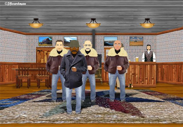 Jones finds recruits Cooper, Harris & Jones at a Dive Bar ©Jack Boardman