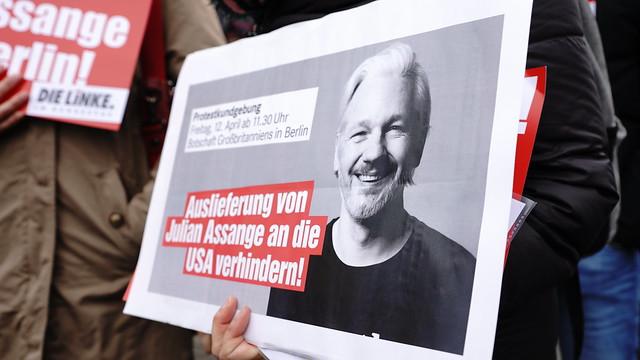12.04.2019 Kundgebung für Julian Assange in Berlin