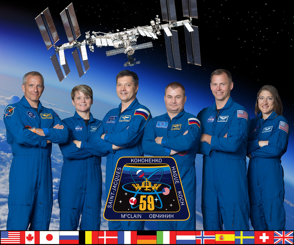 The official Expedition 59 crew portrait
