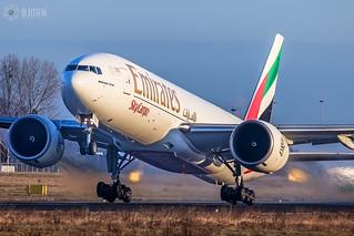 A6-EFS Emirates Boeing 777F, Maastricht Aachen Airport - EHBK/MST   by neplev1
