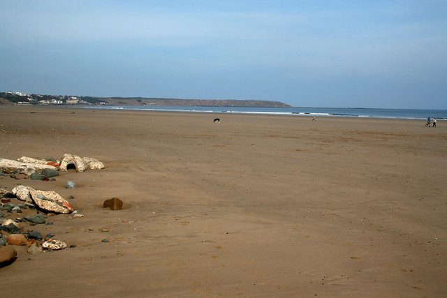 The beach south of Hunmanby