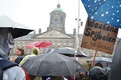Climate protest in the rain