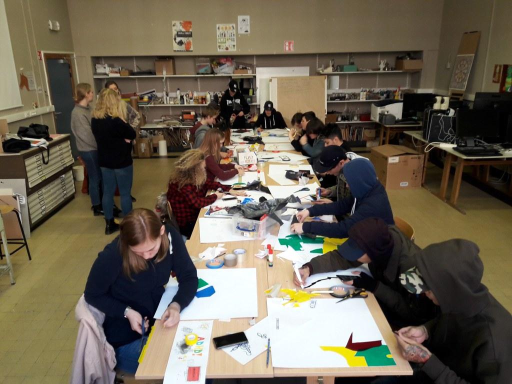 sessie 2 ateliersDKO schilderen met tape (9)
