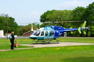 4/8/2019: N429PH; 2007 Bell 407; PHI Air Medical @ Flynn VFD; TX