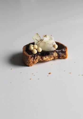 chocolate-coconut tart   by awhiskandaspoon