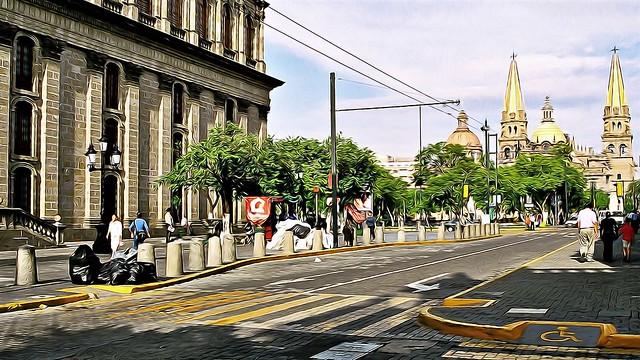 Street Scene in Guadalajara