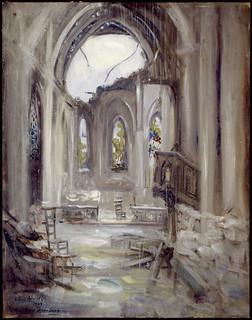 Interior of a Destroyed Church, Arras / Intérieur d'une église détruite à Arras