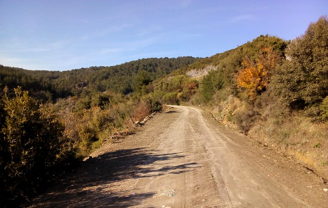 The road from Yamaç to Gökçealan got more and more complicated with lots of forks, some mud, roads that weren't on the map.  It would have been hard to follow without osmand. by bryandkeith on flickr