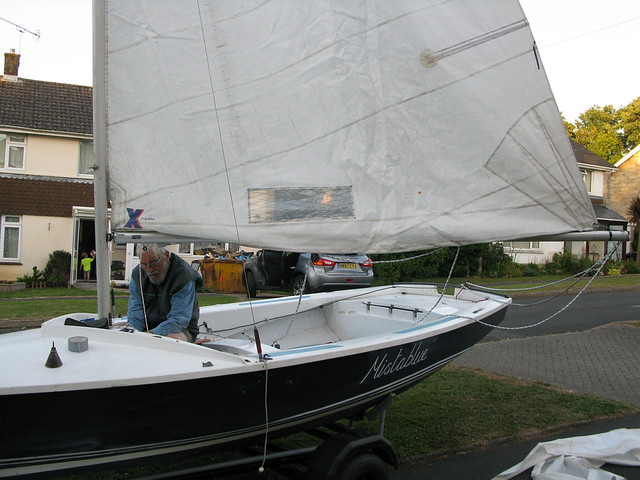 "189. ""Edna,"" my Hebridean wind-vane build, is finished - of his labour - 2"