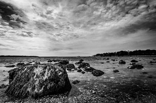 landscape seascape clouds water ocean blackandwhite monochrome bw mono sea nature outside travel gloucester massachusetts ma unitedstatesofamerica usa america nikond7000 tokina1224f4 contrast fav10 fav25 fav50