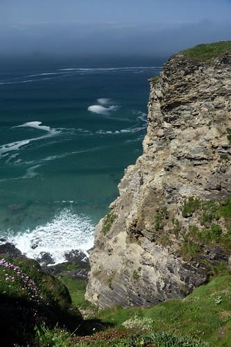 cornwall coast cornwallcoast cliffs countryside coastline may sunny misty southwestcoastpath