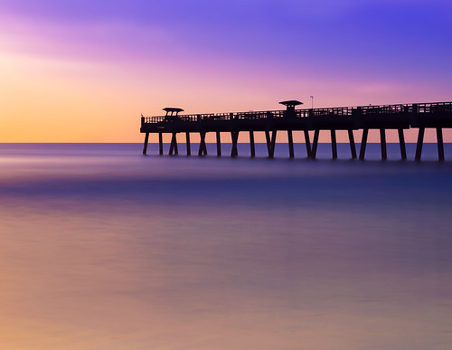 florida jacksonvillebeach sunrise longexposure beach pier atlanticocean