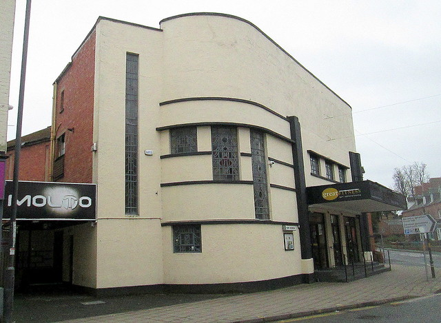 Former Pola Cinema,Welshpool from left