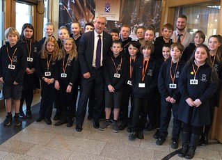 Welcoming Aberlady pupils to Holyrood | by Iain Gray MSP