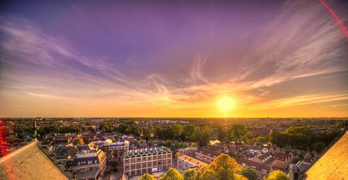 Sunset over Alkmaar.