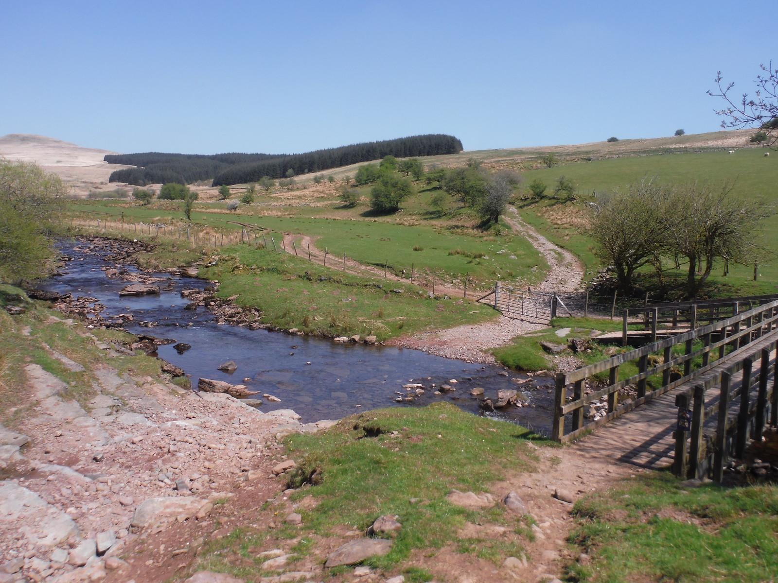 Crossing of the Nedd Fechan SWC Walk 307 - Fforest Fawr Traverse (Craig y Nos to Llwyn-y-celyn) [Beacons Way Route]