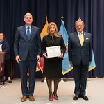 Fri, 03/29/2019 - 14:31 - On Friday, March 29, 2019, the William J. Perry Center for Hemispheric Defense Studies hosted a graduation ceremony for two courses: 'Strategic Implications of Human Rights and Rule of Law' and 'Combating Transnational Threat Networks.' Students from all over the Americas attended the courses from March 18-29, 2019. The graduation ceremony and reception took place in Lincoln Hall at the National Defense University's North Campus at Fort McNair in Washington, DC.