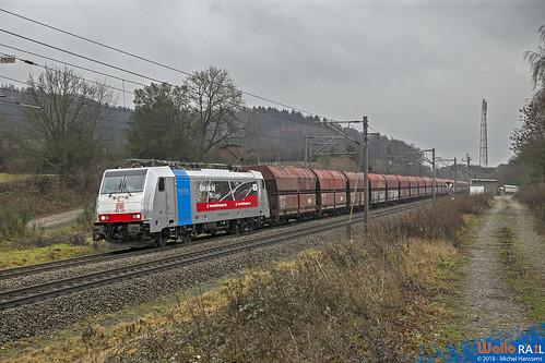 186 491 DB Cargo . E 41580 . Gemmenich . 04.01.19.