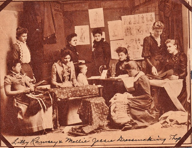 SCN_0047 Lilly Ramsey and Mollie Jessie Dressmaking shop