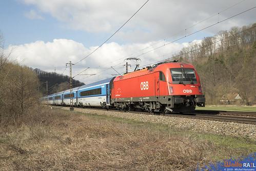 1216 239 ÖBB . Railjet 75 . Brandýs nad Orlicí . 27.03.19.