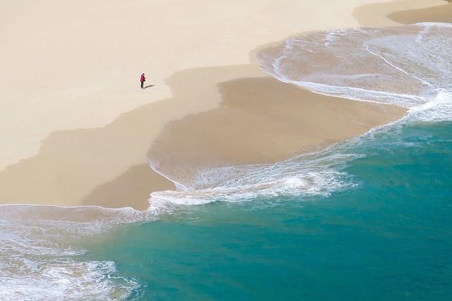 Porthcurno Beach,Cornwall.