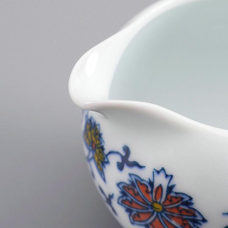 """Qing Hua Ci"" (Blue and White Porcelain) Twining Lotus Pattern Tea Sets including Gaiwan, Cup, Filter, Pot, Gongdaobei"