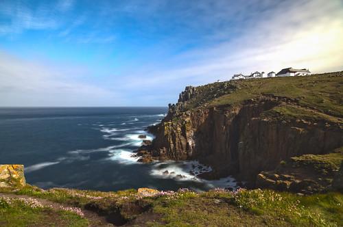 canon6d landscape sea coast coastline cliffs sky blue clouds uk cormwall