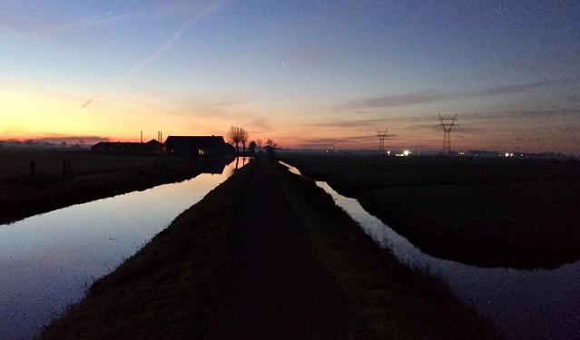 Sunrise at Ruige kade near Hoogmade (Netherlands 2019)