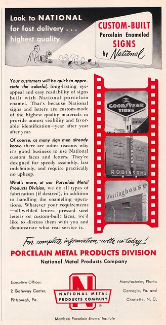Vintage Ad - National Metal Products Company - July 1957