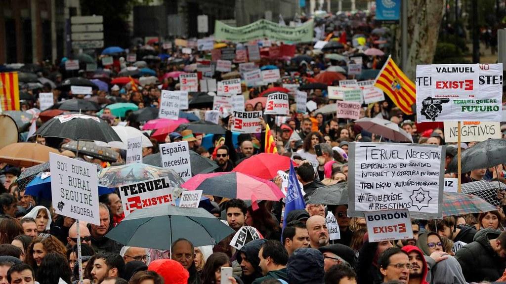 位於馬德里的空城起義遊行。(圖片來源:EFE)