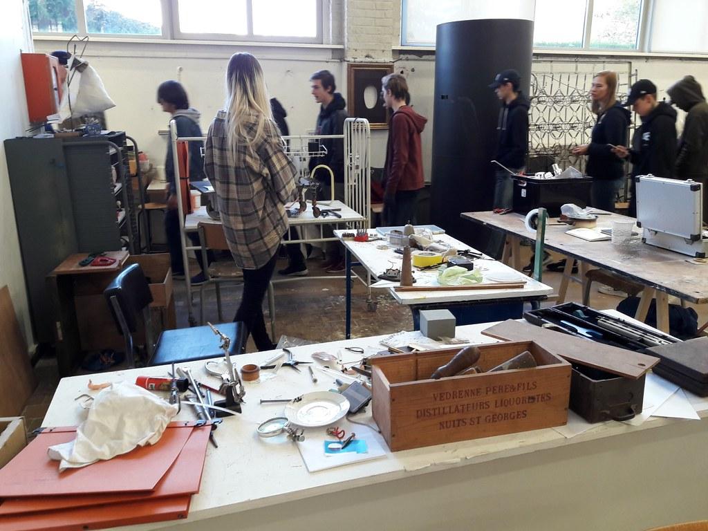 sessie 2 ateliersDKO schilderen met tape (2)