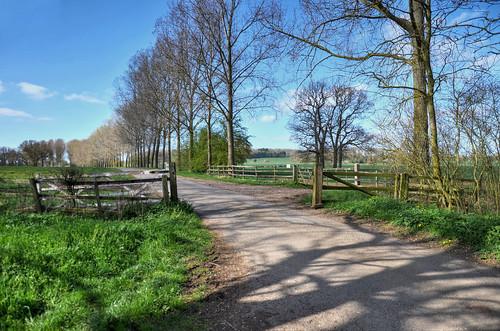 Gated road near Brixworth, Northants - Explored