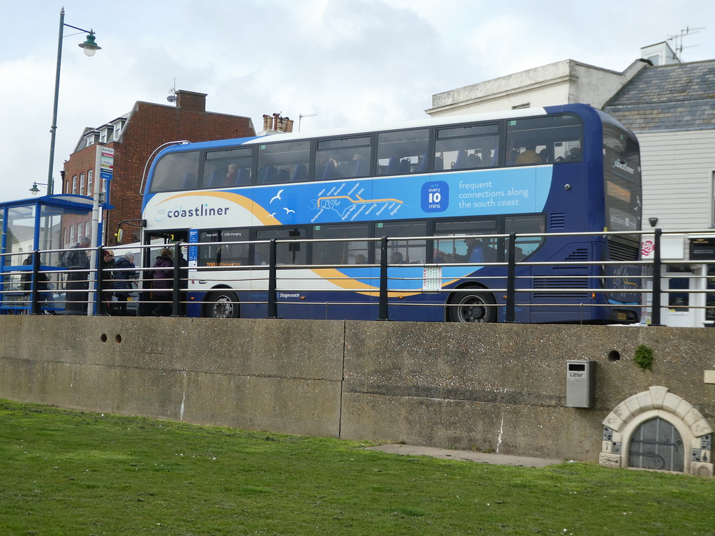 Coastliner bus service which runs along the Sussex coast
