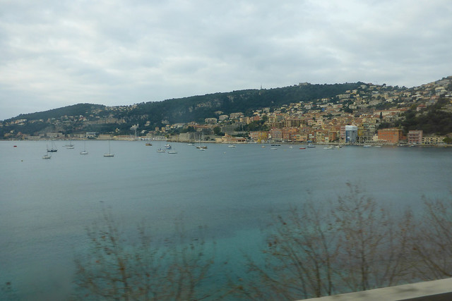 View from a train between Nice and Monaco