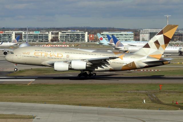 A6-APD  -  Airbus A380-861  -  Etihad Airways  -  LHR/EGLL 11-2-19