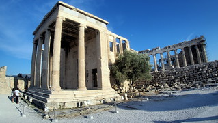 the Erechteion on Acropolis hill
