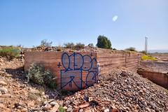 User - graffiti around jardin rouge, feb 2019