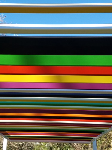 rainbow installation at The Contemporary Austin