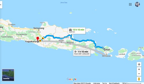 Map Bali to Yogya | by Traveling Morion