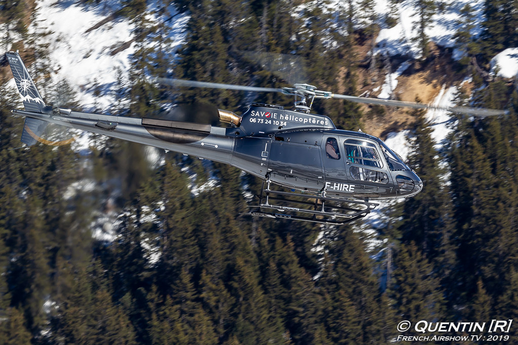 Airbus Helicopters AS350 F-HIRE Savoie Fly Courchevel French Airshow TV photography Airshow Meeting Aerien 2019