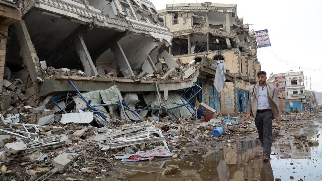 2015年,空襲後的葉門首都沙那。(圖片來源:Philippe Kropf/ UN OCHA)
