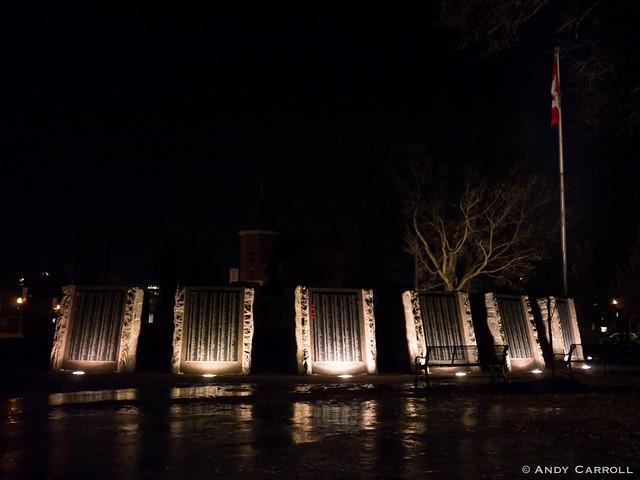 Confederation Square, night