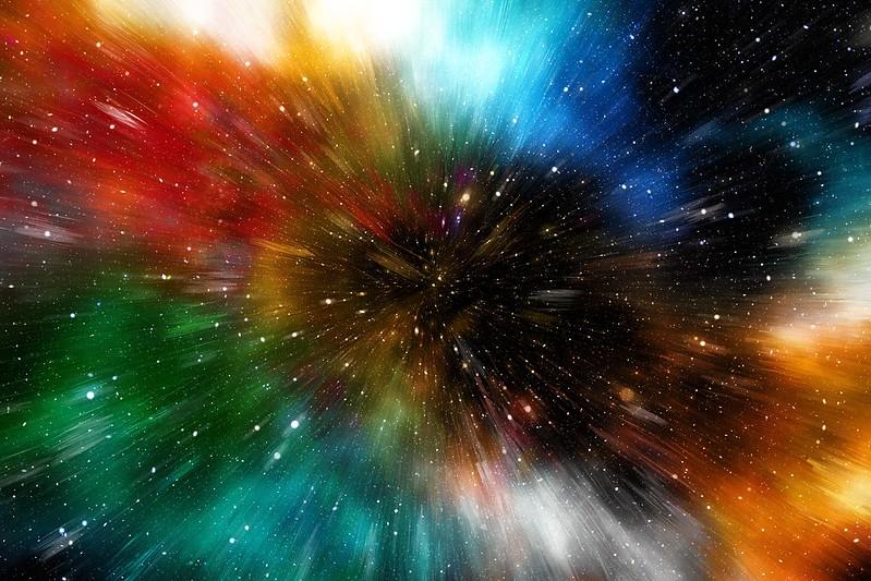 Обои вселенная, галактика, разноцветный, погружение картинки на рабочий стол, фото скачать бесплатно