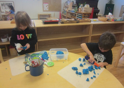 blue play dough