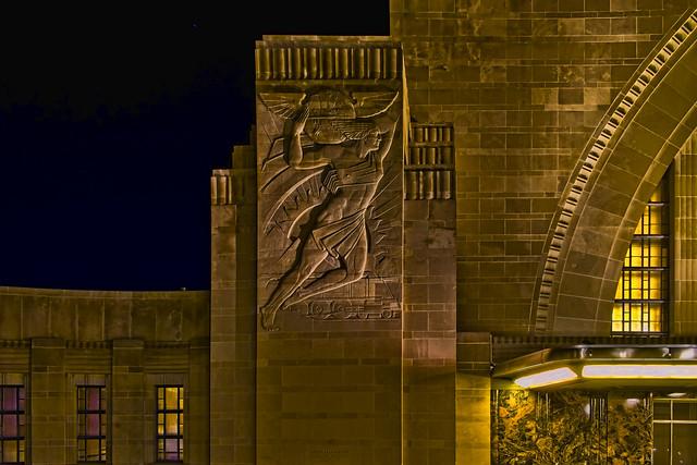 Cincinnati Museum Center at Union Terminal, 1301 Western Avenue, Cincinnati, Ohio, USA / Built: 1933 / Architects:  Alfred T. Fellheimer, Steward Wagner, Paul Philippe Cret, Roland Wank / Architectural Style: Art Deco / Designated NHL: May 5, 1977