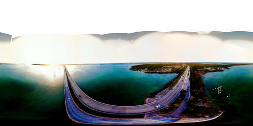 keys florida usa united states freeway highway street island bridge sunset marathon equirectangular