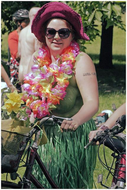 WNBR Brighton UK 2009 - Riders eye view of World Naked